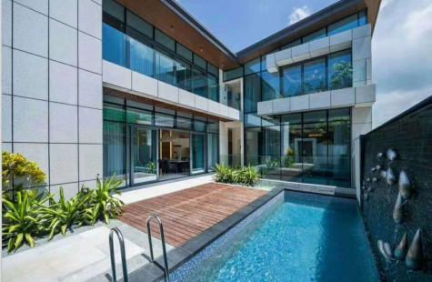 国家海岸 国广海棠私家电梯泳池花园 豪装5房6卫