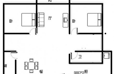春光路 怡景湾 正规两房一厅 年租3700元/月 拎包入住