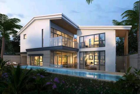海棠湾独栋别墅精装三房,带花园泳池车位和电梯