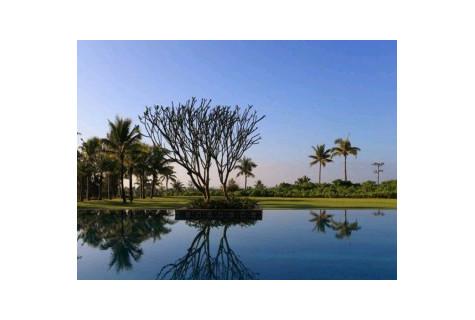 陵水美丽清水湾绿城蓝湾小镇别墅,有高尔夫球场私家泳池精装修